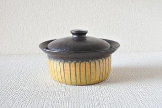 耐熱 / 塗分け 蓋物 - 鈴木 正彦 -