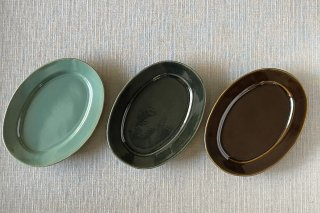 オーバル皿 / 大 / 3種 - 矢口 桂司 -