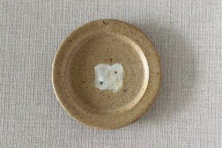 5寸皿 / 茶に薄グレーのりんご - 原田晴子 -