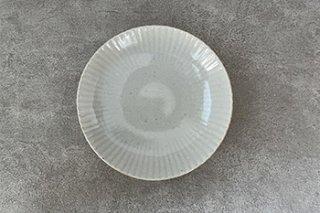 6寸皿 / まる菊 / やわグレー - たくまポタリー -