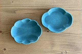 トルコ釉 / 豆皿2種 - 山本 たろう -