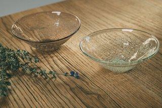 うす泡円すい小鉢 / 2種 - 吹きガラス工房 一星 -