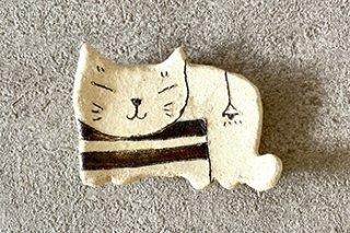 ネコ型豆皿 / 7種 - 平野 照子 -