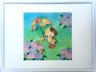 絵本作家あきばたまみさんデザイン『かたつむりと虹色のかさ』