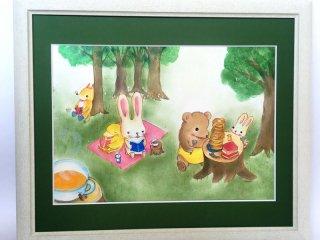 絵本作家あきばたまみさんデザイン『絵本の森のティーパーティー』