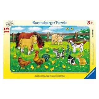 フレームパズル 15ピース 『農場の動物たち』の商品画像です