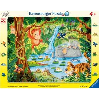 フレームパズル 24ピース 『ジャングルフレンズ』の商品画像です