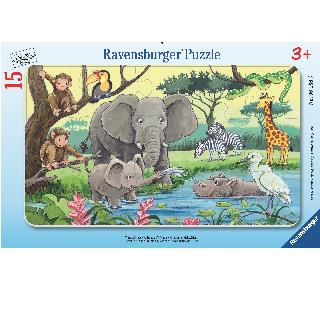 フレームパズル 15ピース 『アフリカの動物たち』の商品画像です