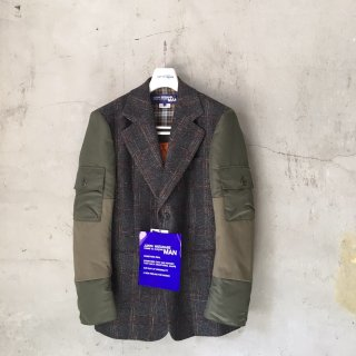 <img class='new_mark_img1' src='https://img.shop-pro.jp/img/new/icons16.gif' style='border:none;display:inline;margin:0px;padding:0px;width:auto;' />JUNYA WATANABE COMME des GARCONS MAN ウールヴィスコースチェック×ナイロンツイル テーラードジャケット