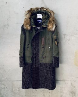 <img class='new_mark_img1' src='https://img.shop-pro.jp/img/new/icons16.gif' style='border:none;display:inline;margin:0px;padding:0px;width:auto;' />JUNYA WATANABE COMME des GARCONS MAN ナイロンツイル×ウールモヘアナイロンチェック コート