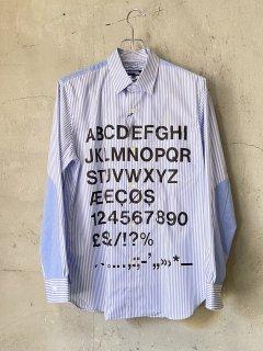 JUNYA WATANABE COMME des GARCONS MAN Helveticaストライププリントシャツ