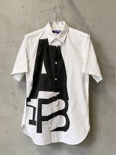 JUNYA WATANABE COMME des GARCONS MAN 綿オックスSPINプリント 製品加工 シャツ