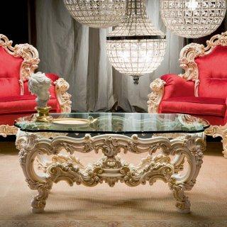 silik シリック テーブル センターテーブル  Art.8805 アンティーク家具 ロココ調