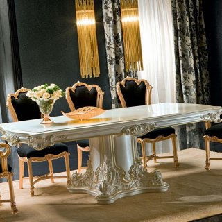 silik シリック テーブル ダイニングテーブル  Art.9975 アンティーク家具 ロココ調