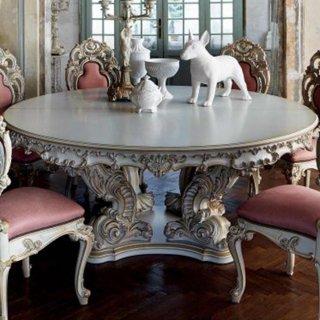 silik シリック テーブル ラウンドテーブル  Art.996_R アンティーク家具 ロココ調