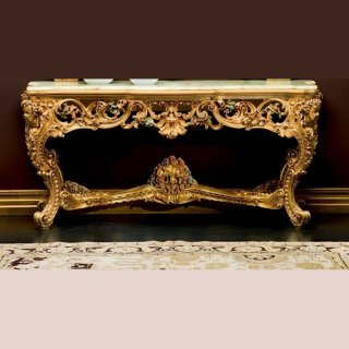 silik シリック  コンソールテーブル 大理石天板 Art.101 アンティーク家具 ロココ調