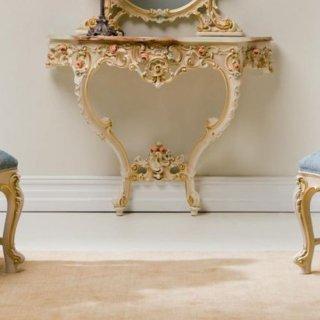 silik シリック  コンソールテーブル 大理石天板  Art.103 アンティーク家具 ロココ調