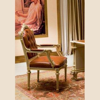silik シリック アームデスク用チェア レザー Art.9928 アンティーク家具 ロココ調