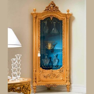 silik シリック コーナーガラスキャビネット Art.520 アンティーク家具 ロココ調