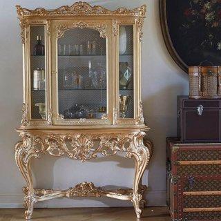 silik シリック ガラスキャビネット Art.560 アンティーク家具 ロココ調