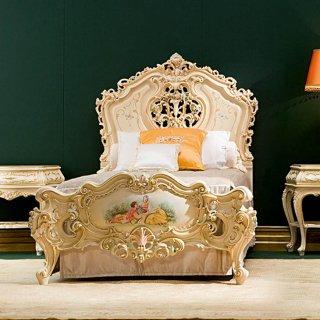 silik シリック シングルベッド マットレス別  Art.781 アンティーク家具 ロココ調
