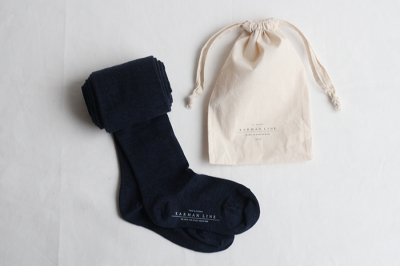 KARMAN LINE・CIRCINUS ウールタイツ 23-25cm 〈ネイビー〉