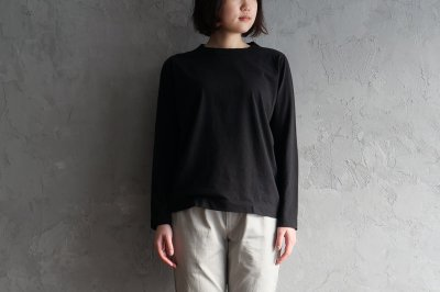 homspun - 天竺長袖Tシャツ〈ブラック〉