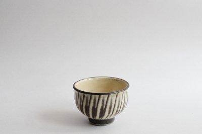 小鹿田焼 / 黒木昌伸窯 - 煎茶碗〈白・刷毛目〉