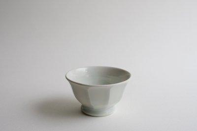 五十嵐元次 - 飯碗〈面取・白磁〉