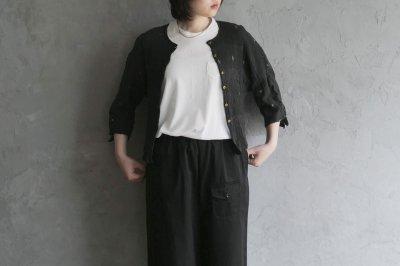 maku textiles -  クレープコットンジャムダニカーディガン 〈ブラック〉
