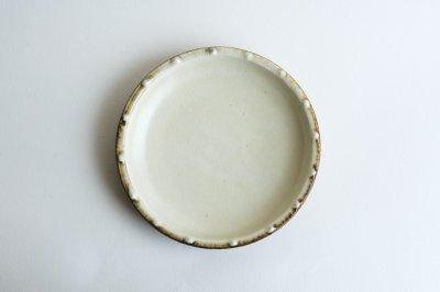 七尾佳洋 - 6寸皿〈白イッチン文〉