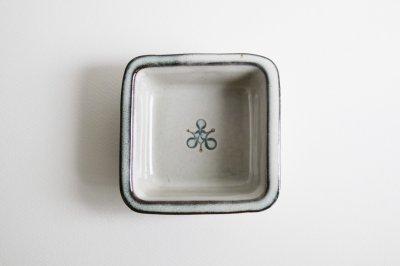 湯町窯 - 角深鉢 〈海鼠釉・花〉
