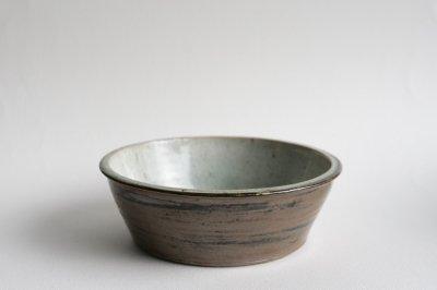 中嶋窯 - 白掛切立鉢6寸