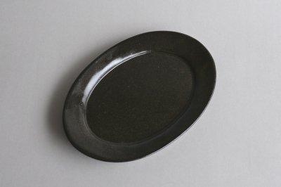 CANASA - 楕円皿 〈黒〉