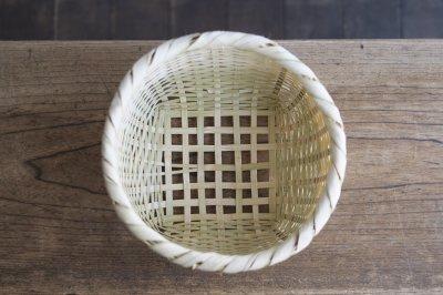 岩手のかご - 真竹 四つ目編みざる〈小〉