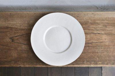 今井律湖 - ワイドリム皿〈乳白〉