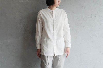 CALICO カディはぎシャツ〈白〉
