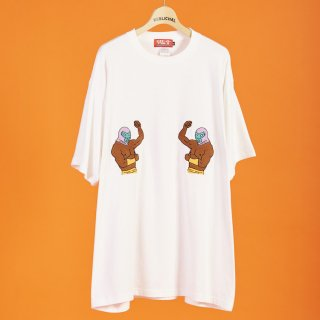 マスクマン刺繍BIG T-shirts ホワイト