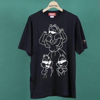 アリストとリス2(トゥー)Tシャツ/ブラック