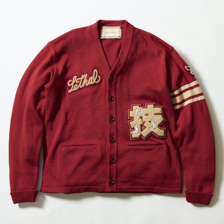 Wrestling College Cardigan レッド