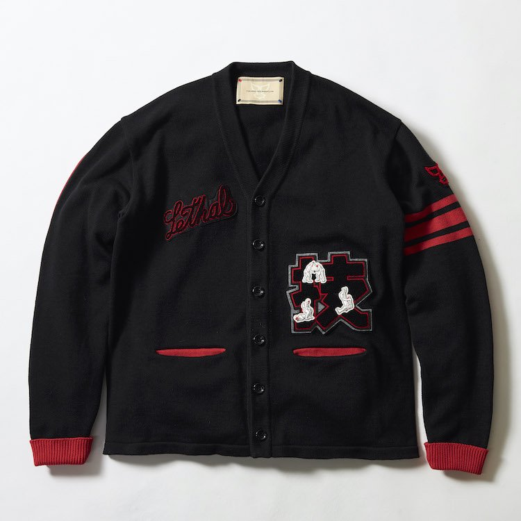 Wrestling College Cardigan ブラック