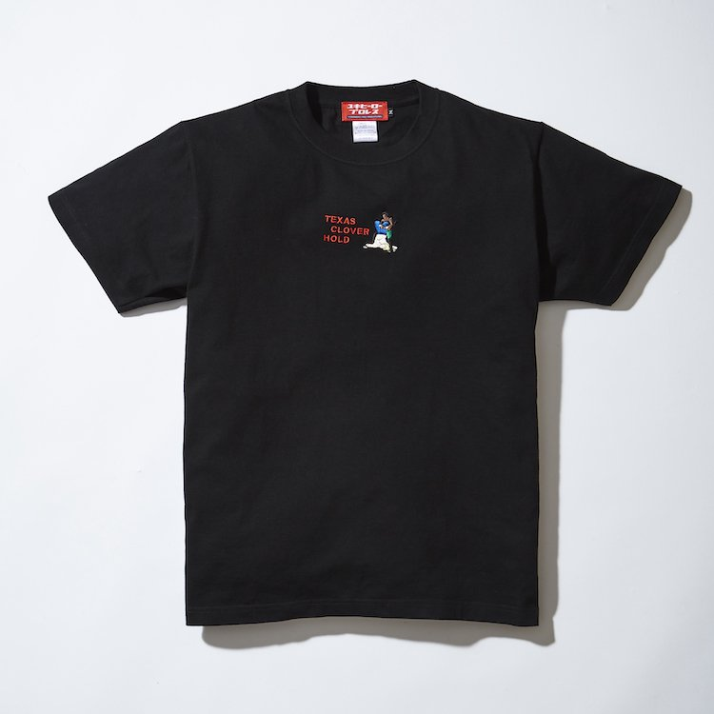 テキサスクローバーホールド刺繍Tシャツ ブラック