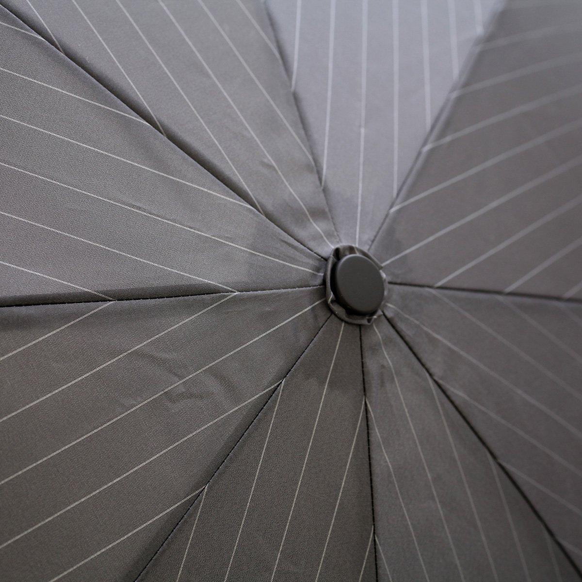 自動開閉 ピンストライプ 折りたたみ傘 詳細画像7