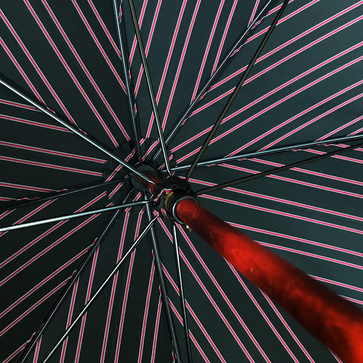 Wフェイス ストライプ 折りたたみ傘 詳細画像9