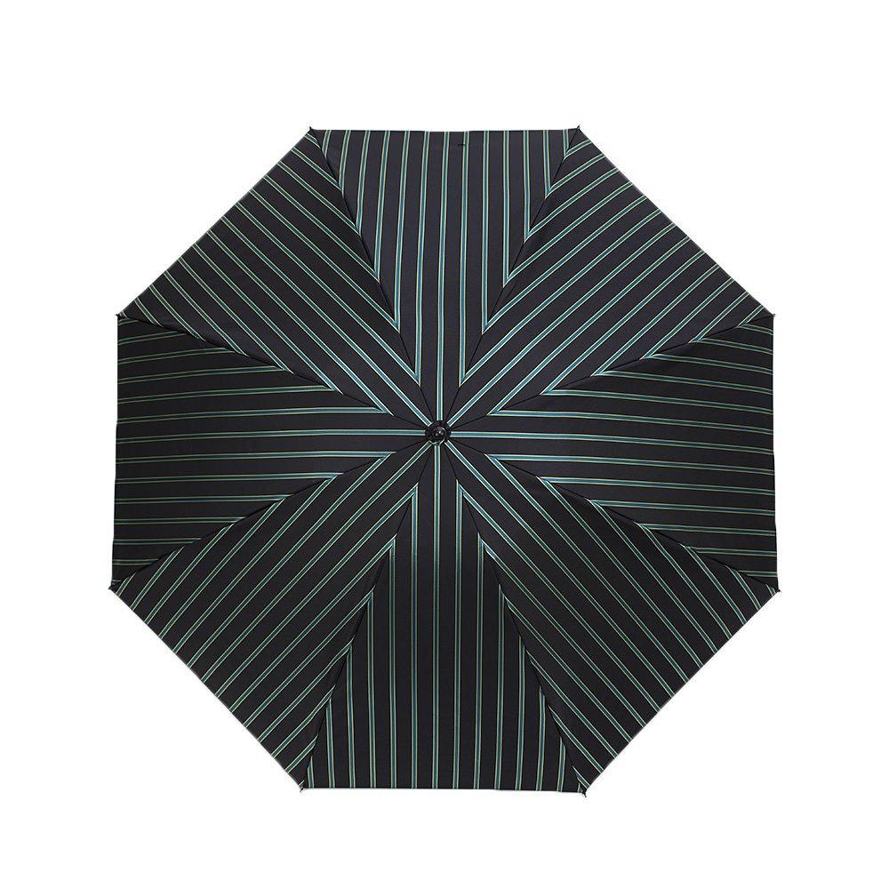Wフェイス カラーストライプ 折りたたみ傘 詳細画像5