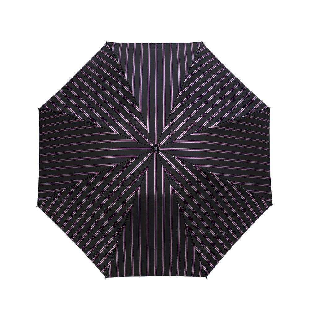 Wフェイス カラーストライプ 折りたたみ傘 詳細画像6