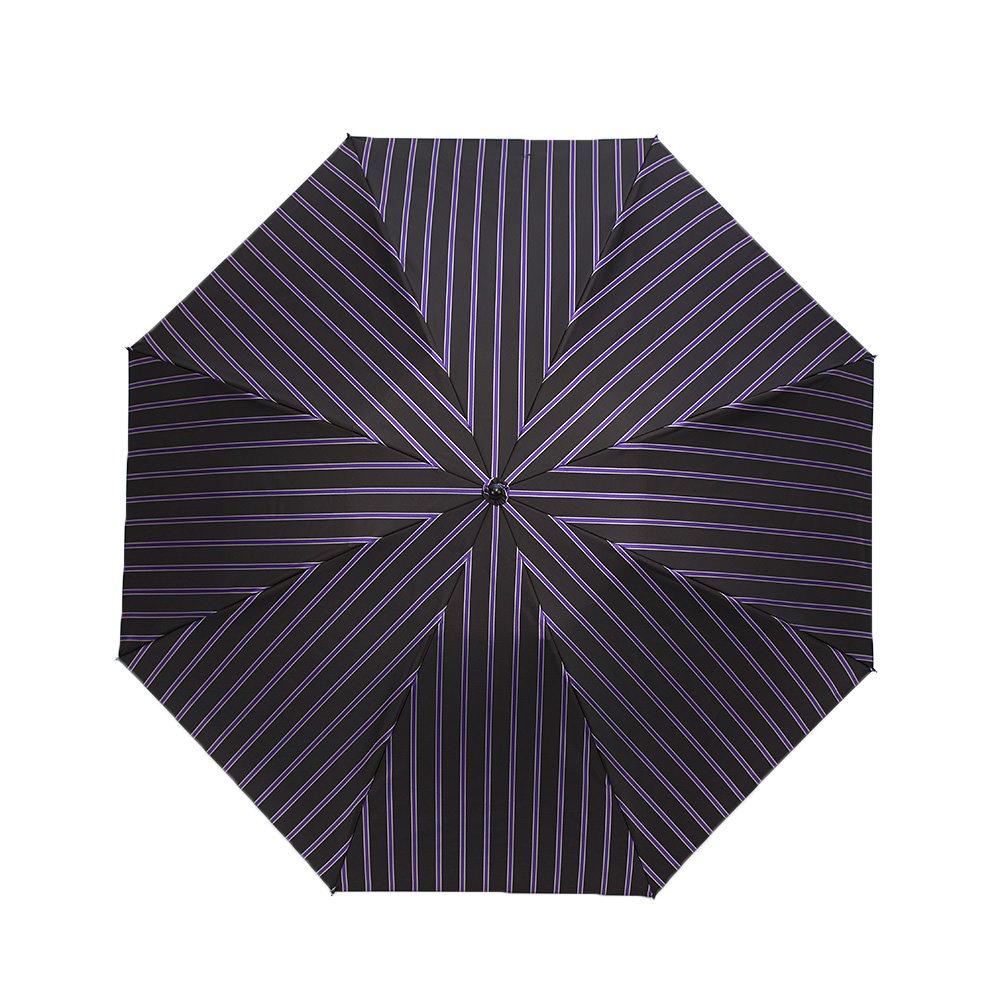 Wフェイス カラーストライプ 折りたたみ傘 詳細画像8