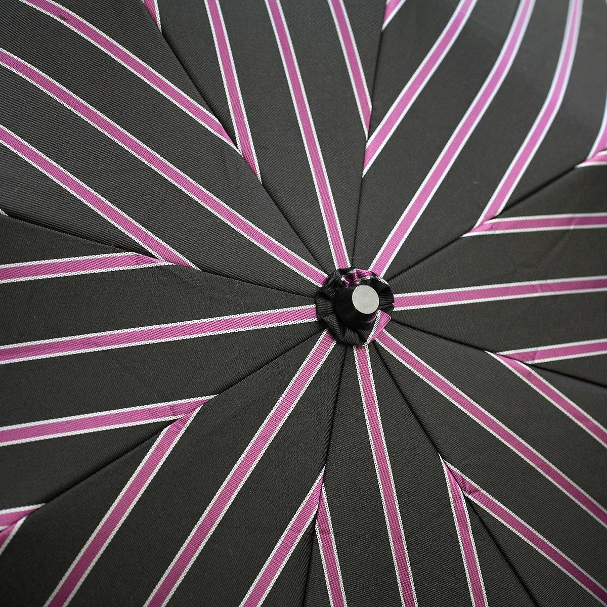 Wフェイス カラーストライプ 折りたたみ傘 詳細画像9