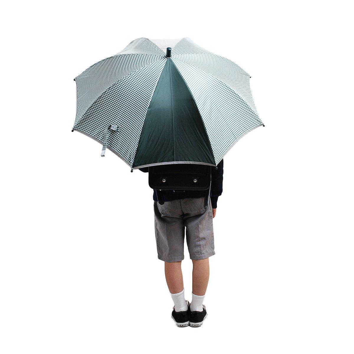キッズ スクール ギンガムチェック 長傘(グリーン) 詳細画像9