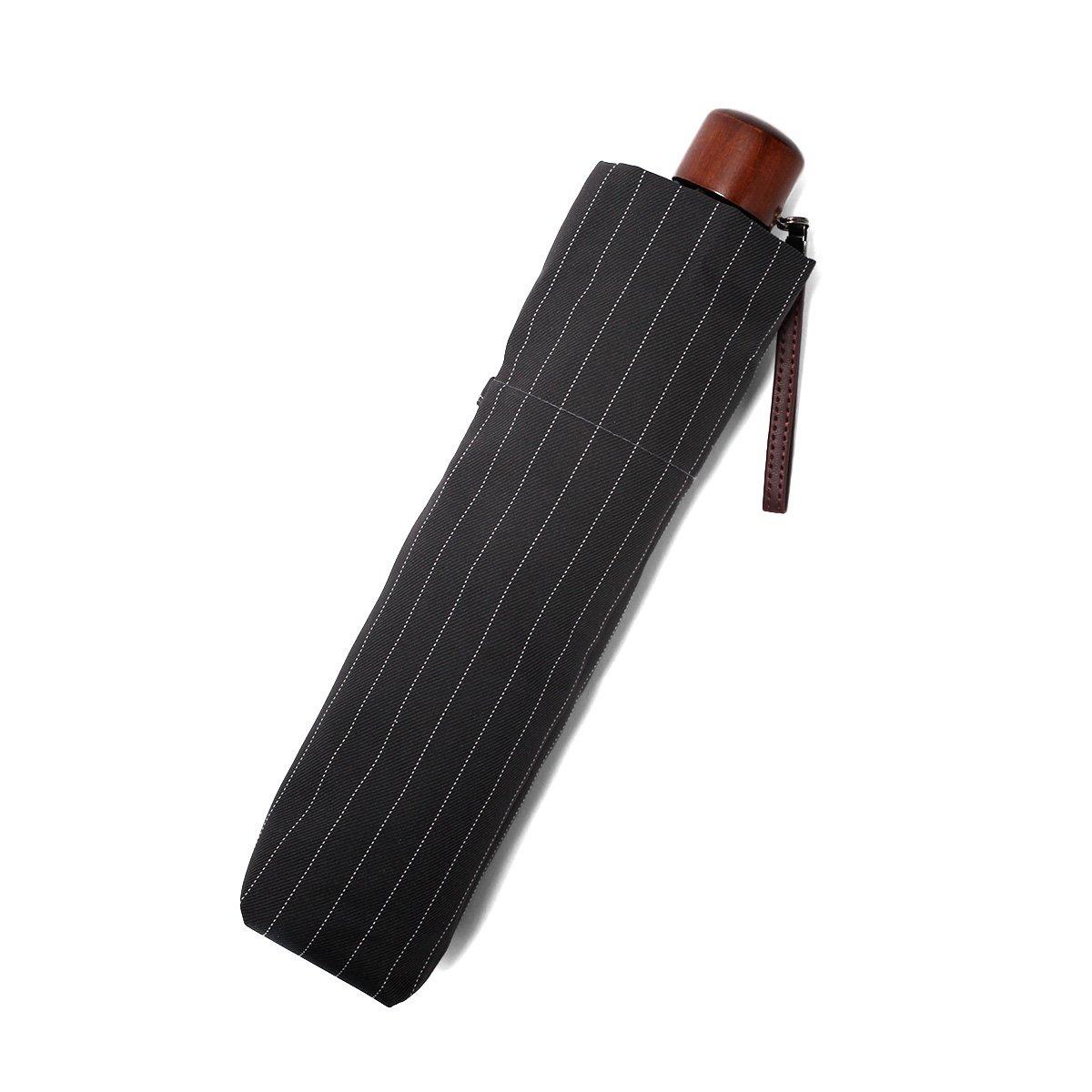 【セール】ツイルストライプ 折りたたみ傘 詳細画像8